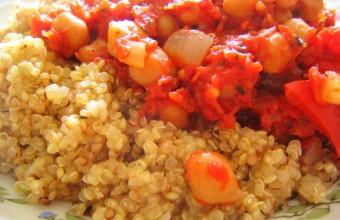 Chickpea Ratatouille with Quinoa