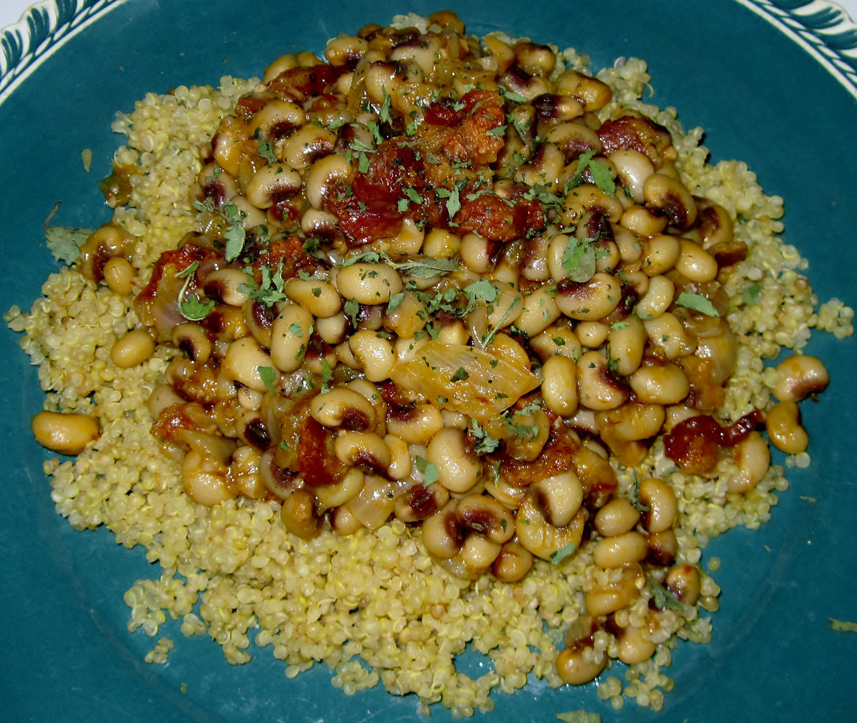 Chipolte Bacon Peas with Quinoa