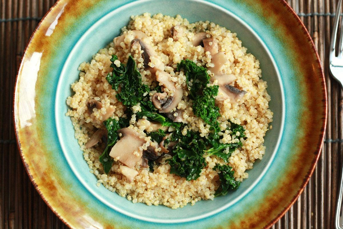 Kale Mushroom Quinoa