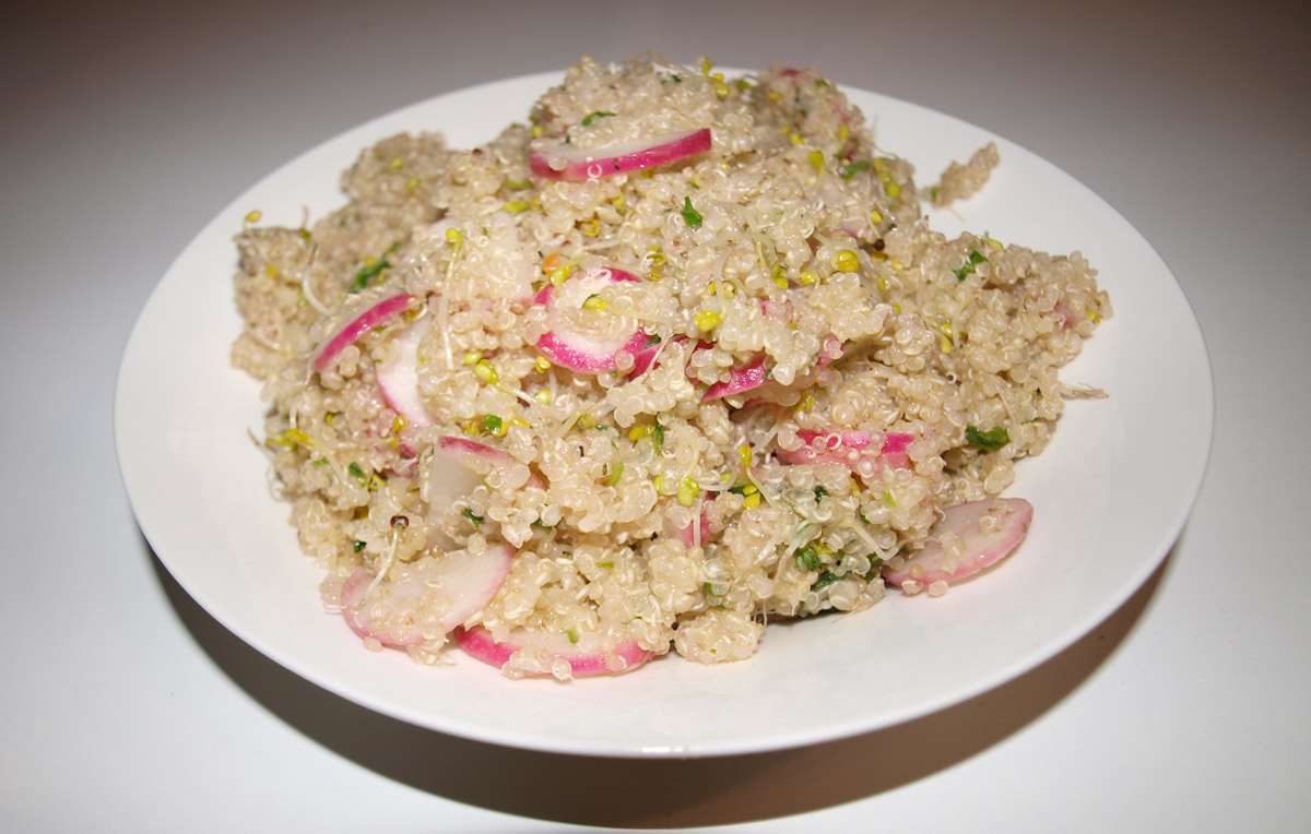 Quinoa Salad with Radishes and Greens