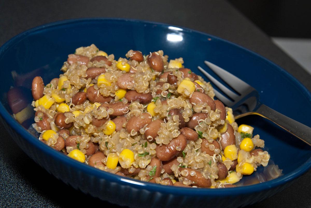 Quinoa and pinto beans
