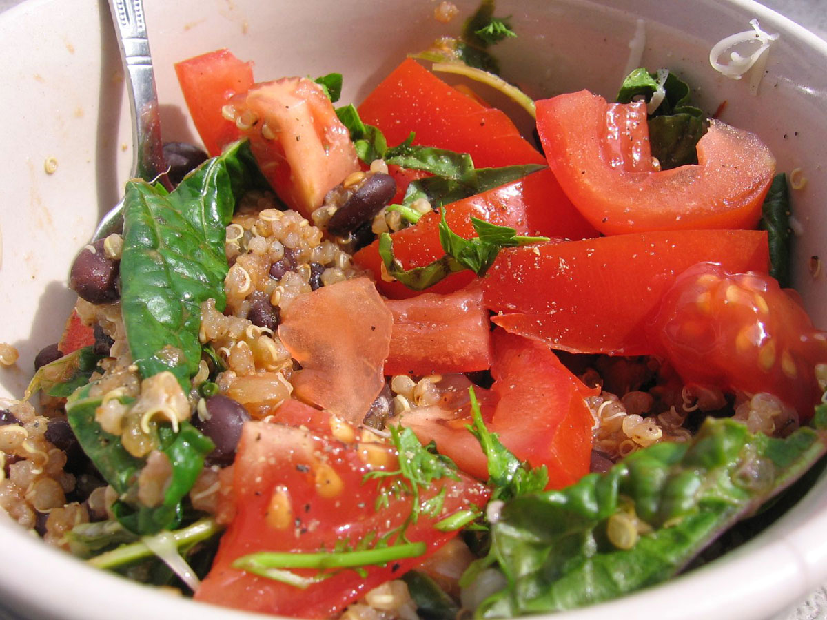 Quinoa salsa stir-fry