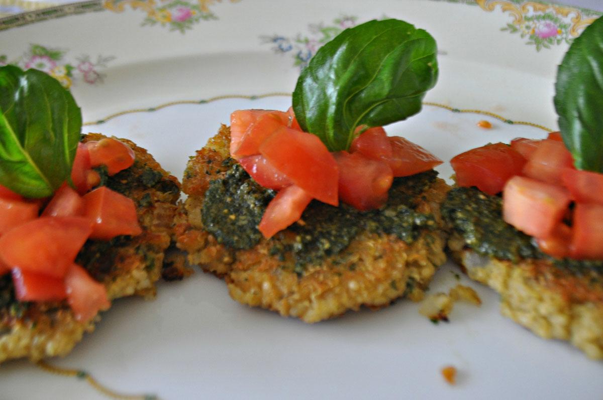 Basil Quinoa Cakes