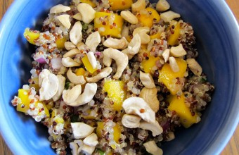 Cashew Orange Mango Quinoa Salad