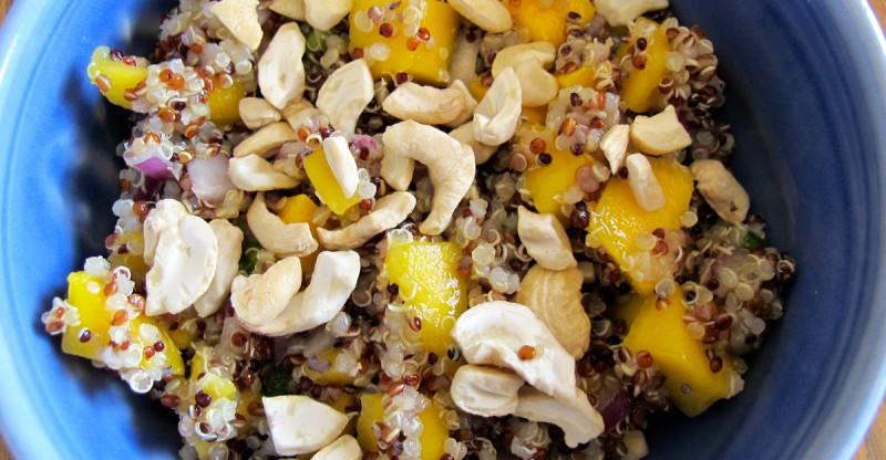 Cashew Orange Mango Quinoa Salad