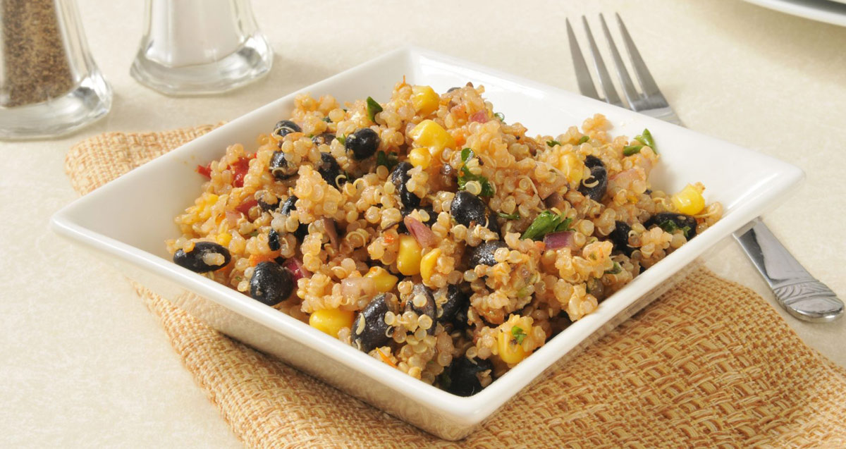 Curried Quinoa and Black Bean Salad