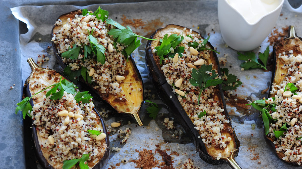 Eggplant with Quinoa and Yoghurt
