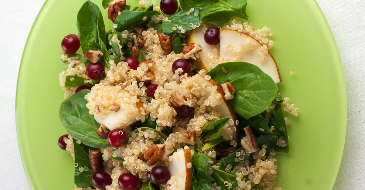 Quinoa and Pear Salad with Berries