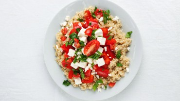 Red Pepper and Tomato Quinoa Salad with Feta