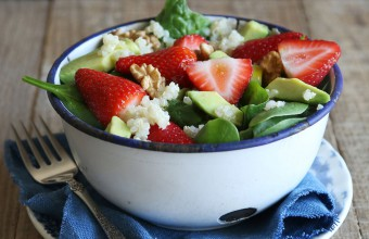 Strawberry, Spinach and Avocado Quinoa Salad