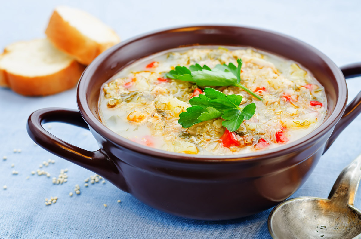 Creamy Chicken and Quinoa Soup