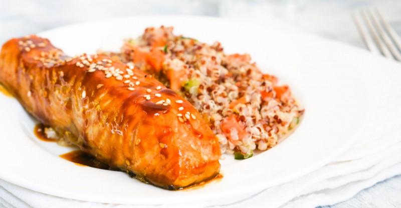 Orange and Ginger Salmon with Quinoa