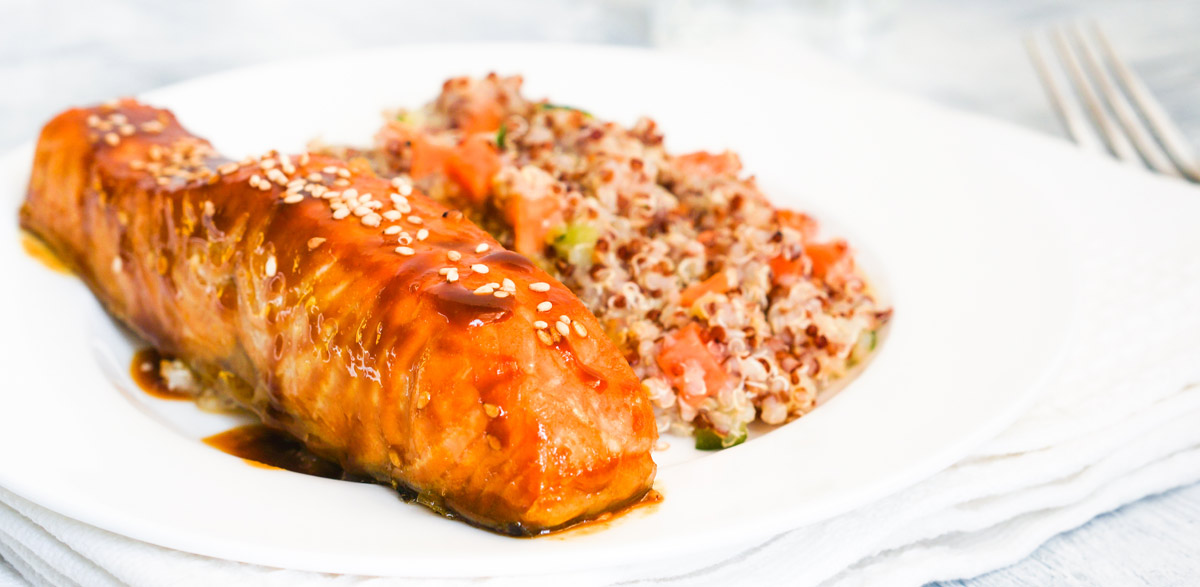 Orange and Ginger Salmon with Quinoa