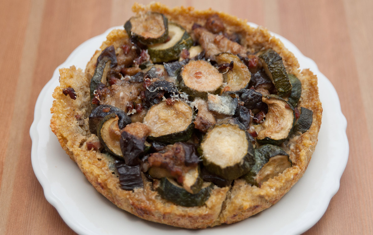 Quinoa Quiche with Eggplant and Zucchini