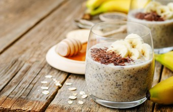 Quinoa and Chia Pudding with Banana and Chocolate