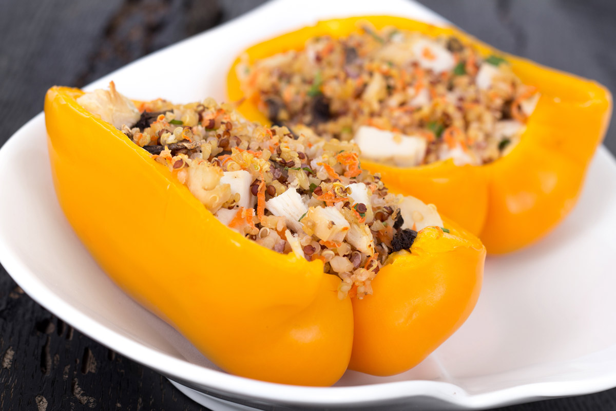 Quinoa and Chicken Stuffed Peppers
