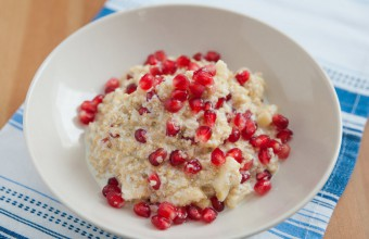 Quinoa and Coconut Milk Pudding with Pomegranate