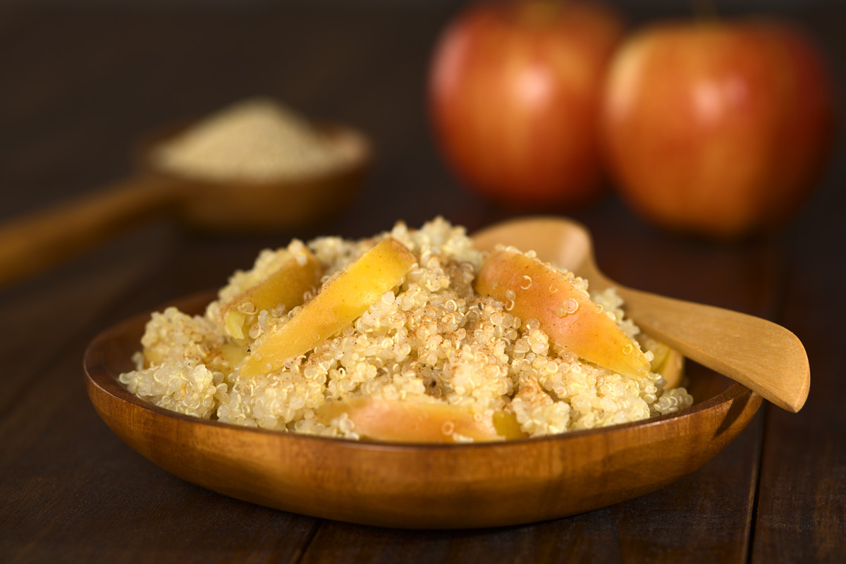 Cinnamon Apple Quinoa Porridge