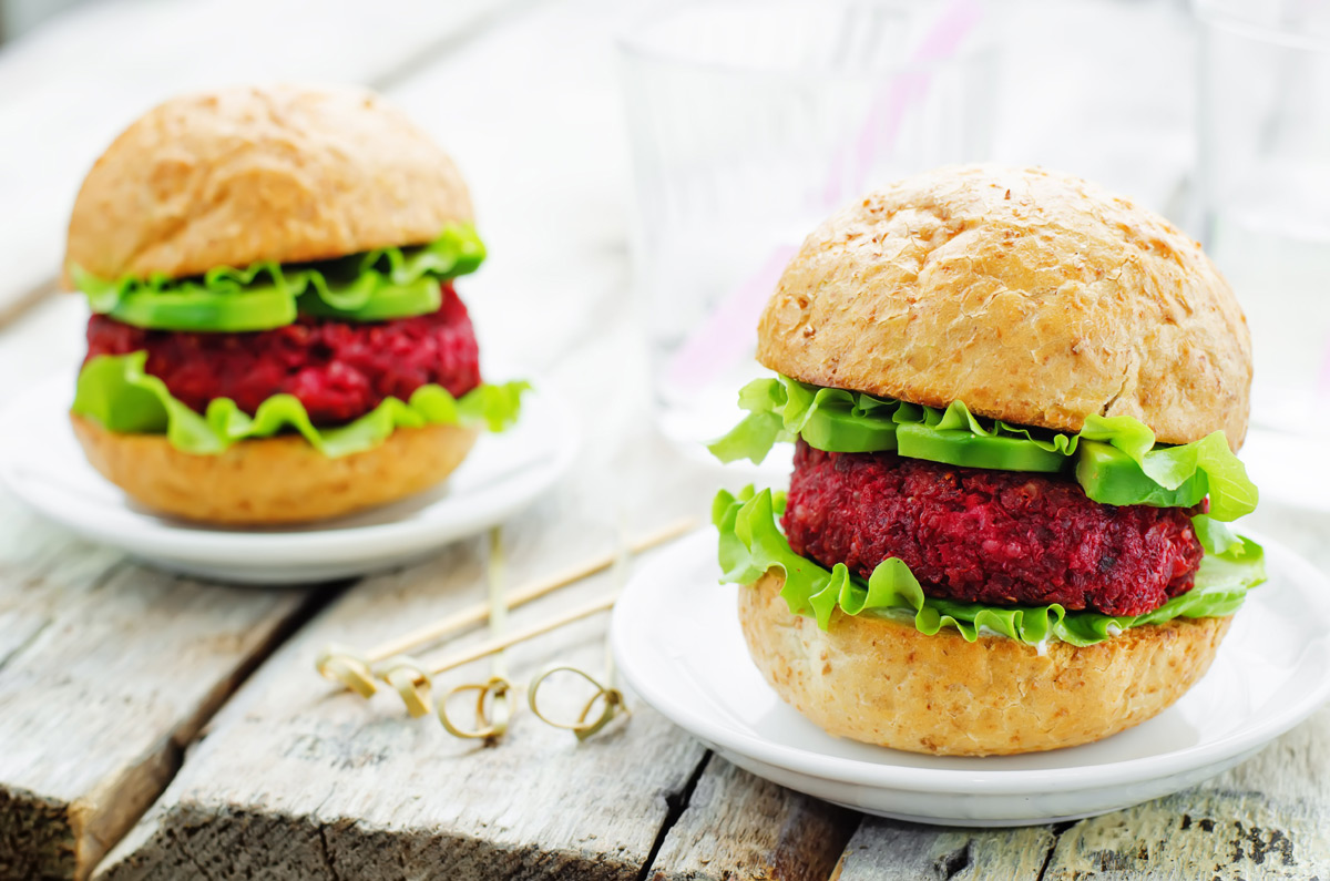 Quinoa, Beet and Chickpea Sliders