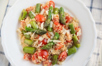 Quinoa with Asparagus and Tomatoes