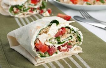 Vegetarian Quinoa Wrap