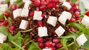Arugula Pomegranate Salad Quinoa