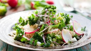 Broccolini Radish Quinoa Salad & Feta