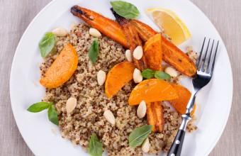 Grilled carrots and pumpkin quinoa