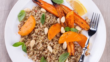 Grilled carrots and pumpkin quinoa