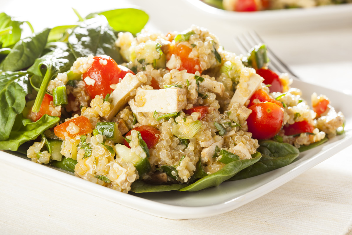 Quinoa with Smoked Tofu and Vegetables