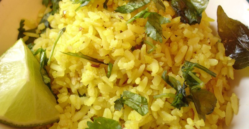 Poha Fried flattened rice